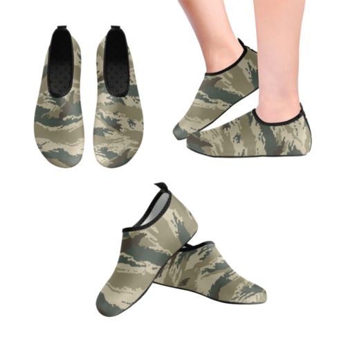 russian Kamysh arid camouflage Men's Slip-On Water Shoes
