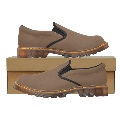 Plain Brown Martin Men's Slip-On Loafer