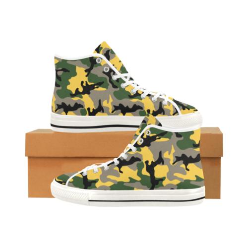 MC yellow stinger Camoverse hi-top  Men's Canvas Shoes