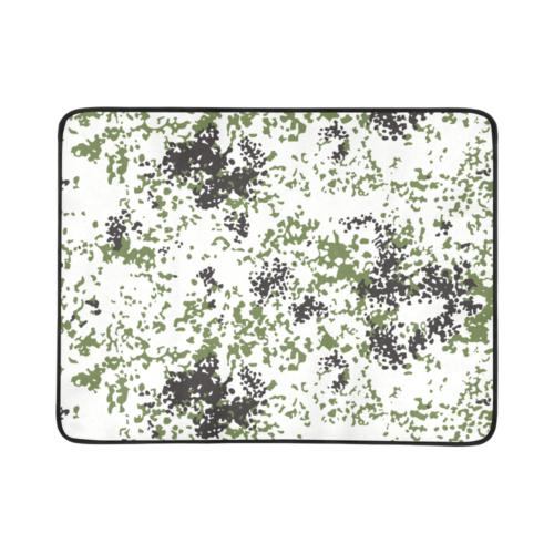 "Snow Flecktarn Schneetarn Fleck camouflage Beach Mat 78""x 60"""