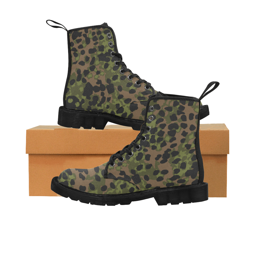 platanenmuster summer camouflage Martin Boots for Men (Black)
