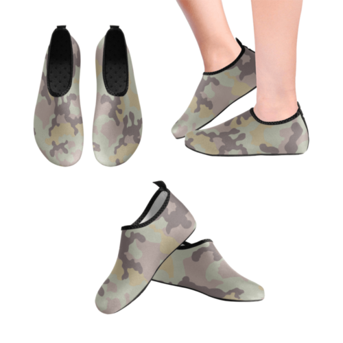Russian BONVV Russian woodland Les camouflage Men's Slip-On Water Shoes
