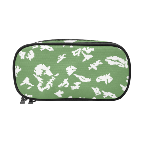 russian KLMK Berehzka green silver leaf Pencil Pouch/Large