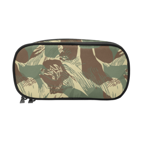 Rhodesian Bush Brushstroke Camouflage Pencil Pouch/Large