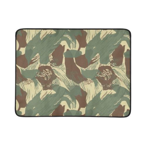 "rhodeisan brushstroke camouflage Beach Mat 78""x 60"""