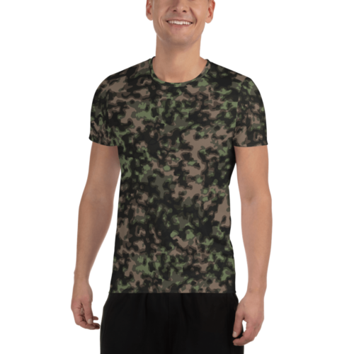 German WWII Rauchtarn spring Camouflage Athletic T-shirt
