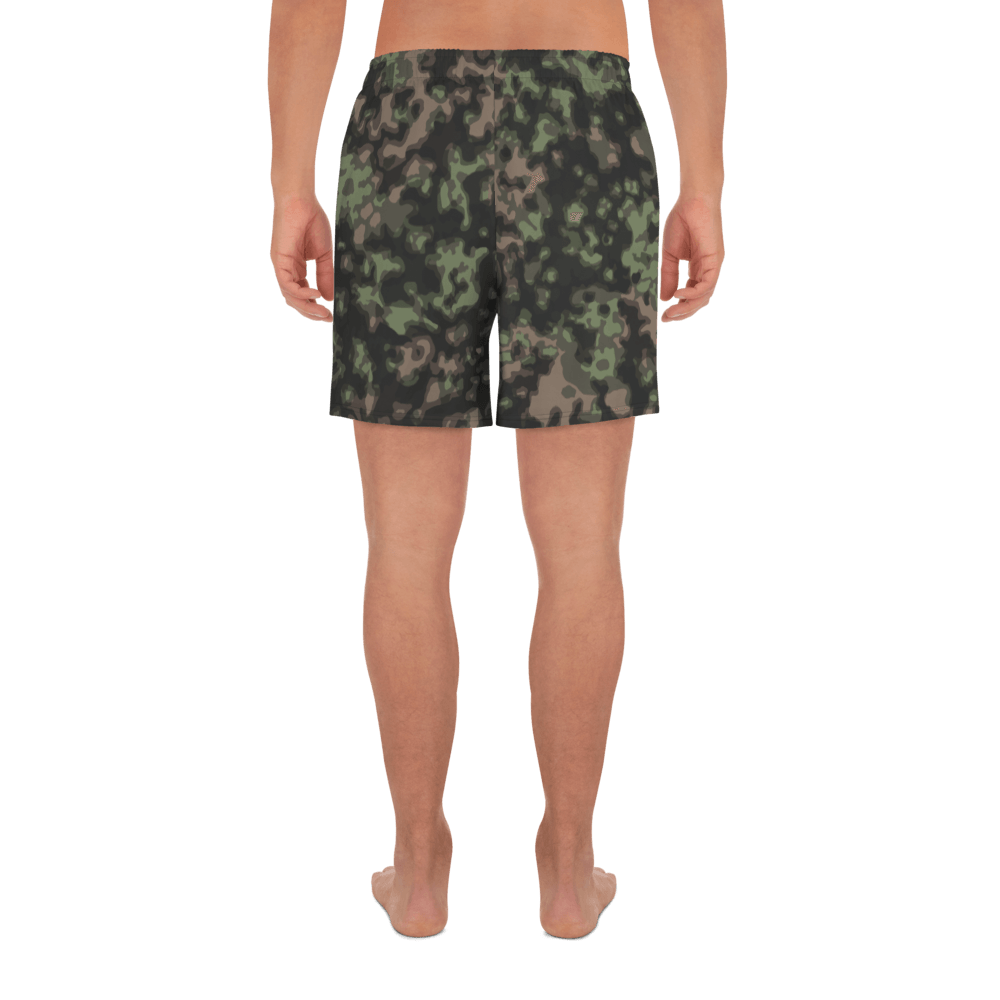 German WWII Rauchtarn spring Camouflage Men's Athletic Long Shorts