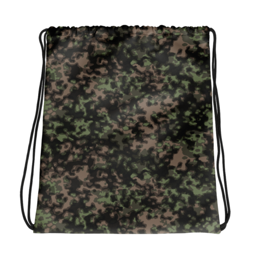 german WWII rauchtarn spring camouflage Drawstring bag