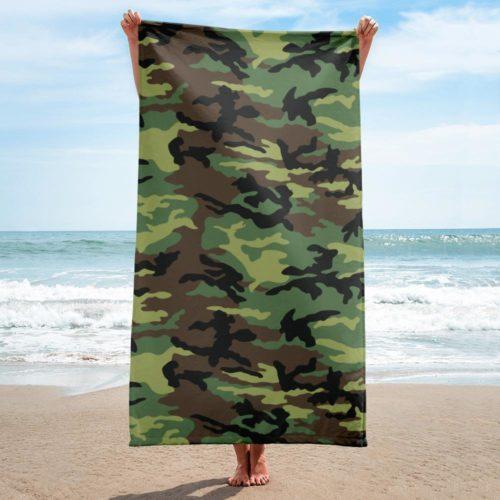 Euro Woodland ERDL Beach Towel