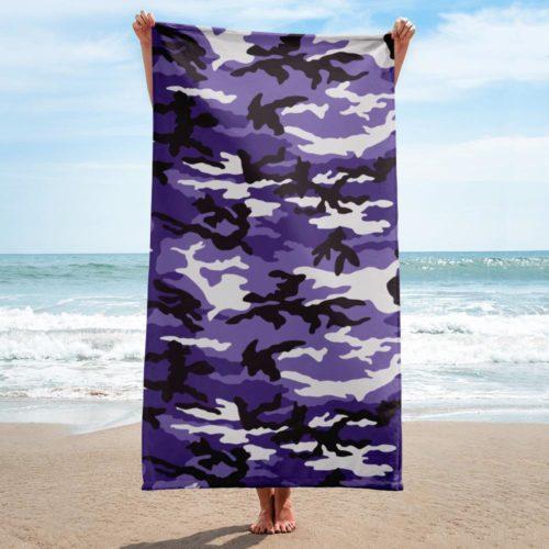 Deep Purple ERDL Beach Towel