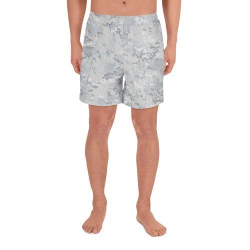 Multicamo arctic camouflage Men's Athletic Long Shorts