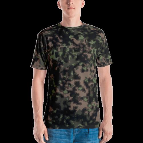 German WWII Rauchtarn Spring Camouflage Men's T-shirt