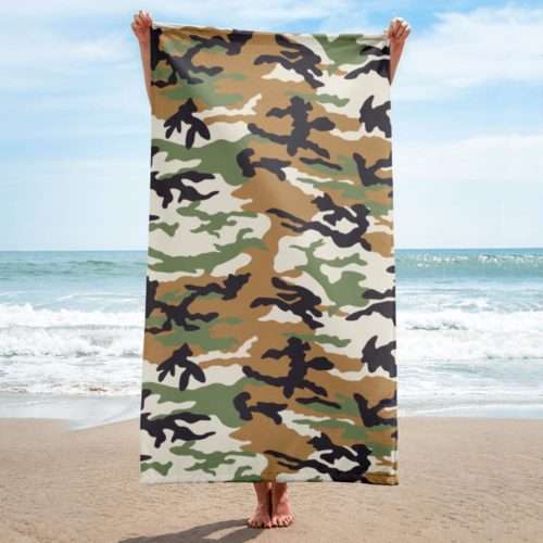 afro woodland tree ERDL Towel
