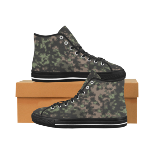 rauchtarn spring camouflage Camoverse hi-top  Men's Canvas Shoes