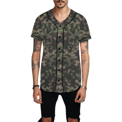 WWII Rauchtarn Spring Camouflage Baseball Jersey for Men