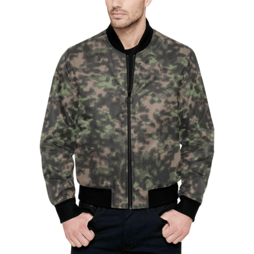 WWII Rauchtarn Spring Camouflage Quilted Bomber Jacket for Men