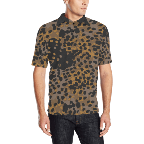 Platanenmuster fall camouflage Men's  Polo Shirt