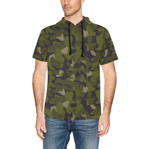 Sweden M90 woodland Short Sleeve Hoodie for Men