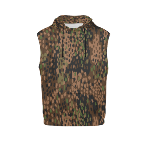 pea dot 44 camouflage Sleeveless Hoodie for Men