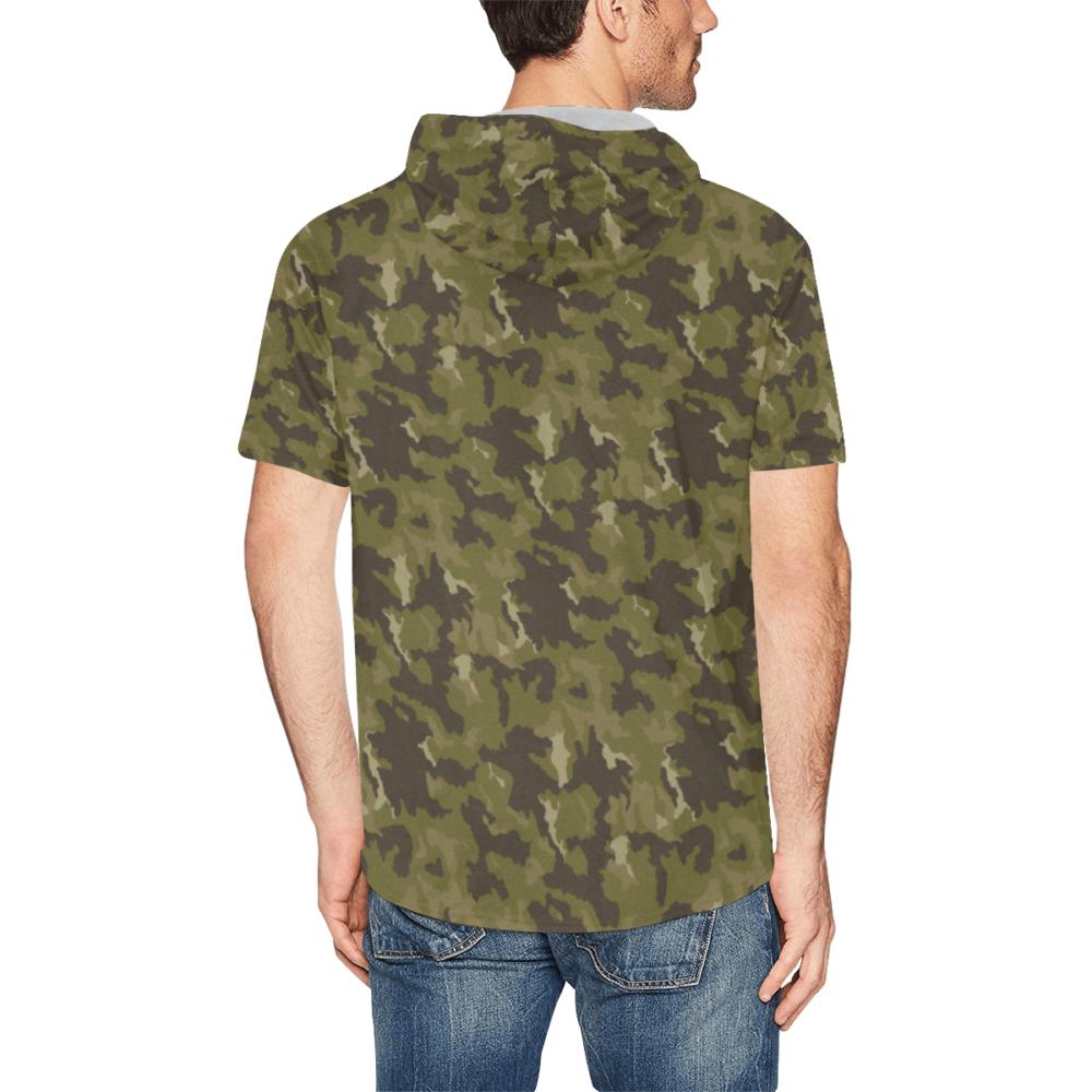 MVD Type 2 Woodland-SMK Short Sleeve Hoodie for Men