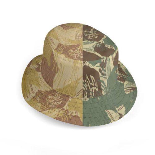 UK Deluxe Reversible Bucket Hat Rhodesian Brushstrokes Camouflages