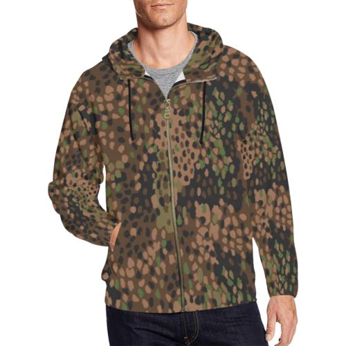 pea dot 44 camouflage Full Zip Hoodie for Men