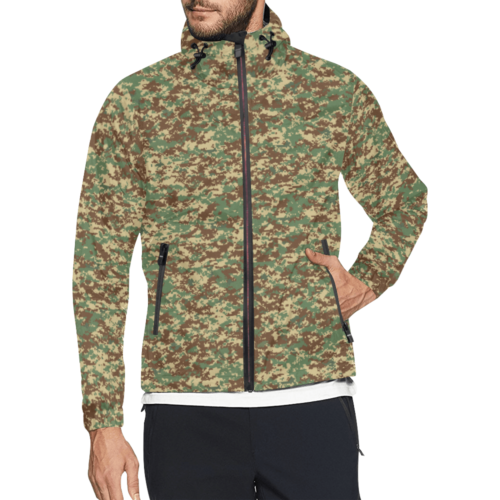 Fictional Rhodesian Digital BUSHPAT Camouflage Print Windbreaker