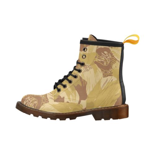 Rhodesian Brushstrokes Experimental Desert Camouflage High Grade PU Leather Martin Boots For Men