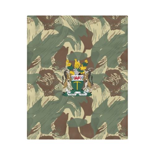 """Rhodesian Brushstrokes Camouflage V2 Duvet Cover 86""""x70"""""""