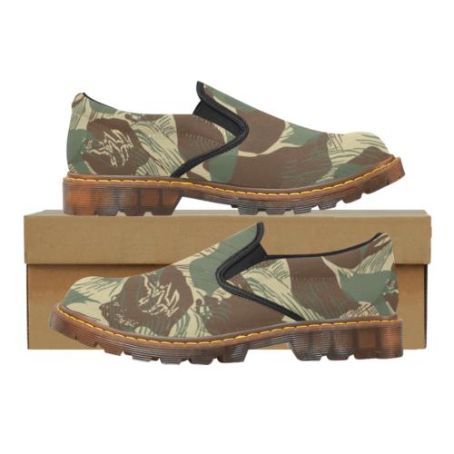 Rhodesian Brushstrokes Camouflage V2 Martin Men's Slip-On Loafer