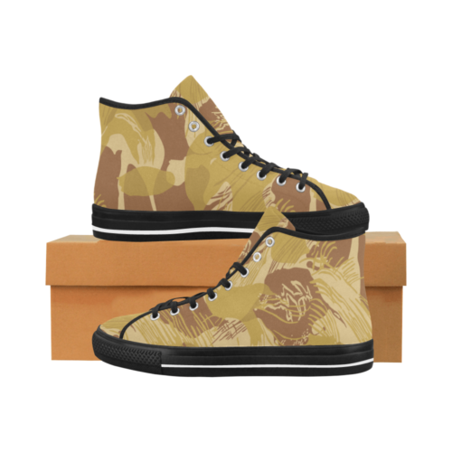 Rhodesian Brushstroke experimental Desert Camouflage Camoverse Men's Canvas Shoes