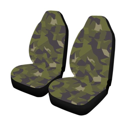 Swedish M90 woodland camouflage Car Seat Covers (Set of 2)