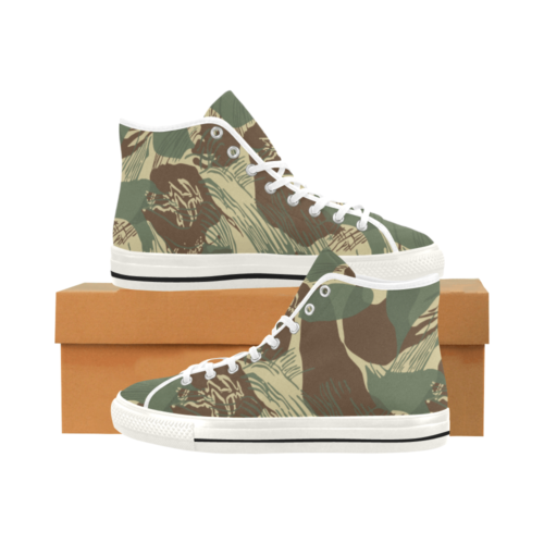 Rhodesian Brushstrokes Camouflage V2 White Camoverse Men's Canvas Shoes