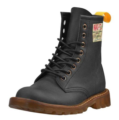 """Vegan Leather "" High Grade PU Martin Boots"