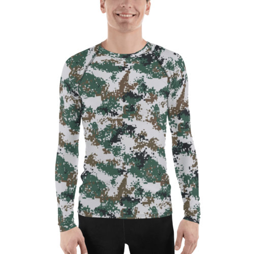 Chinese PLA M07 Universal Camouflage Men's Rash Guard