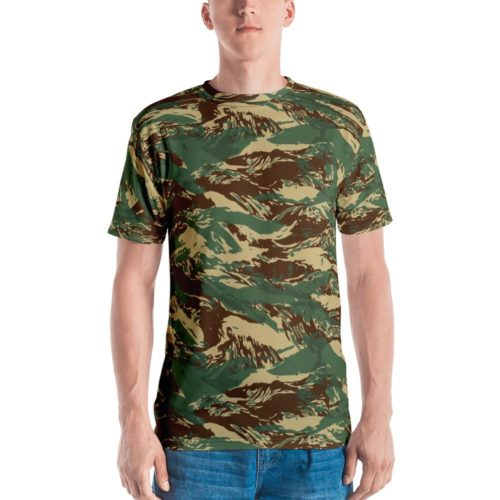 Fictional Rhodesian Tiger Stripes Camouflage Men's T-shirt