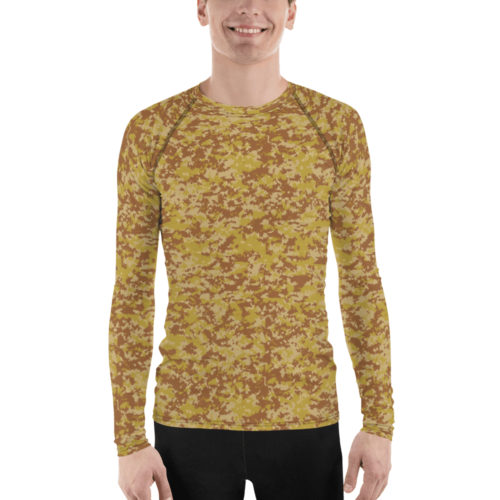 Fictional Rhodesian Desert digital camouflage Men's Rash Guard