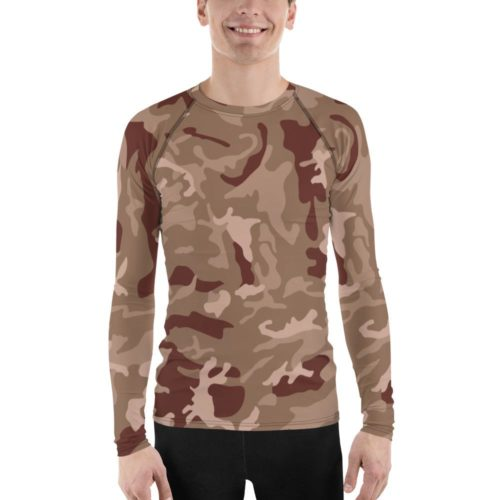 Spanish M03 EZPAC Desert Woodland Men's Rash Guard