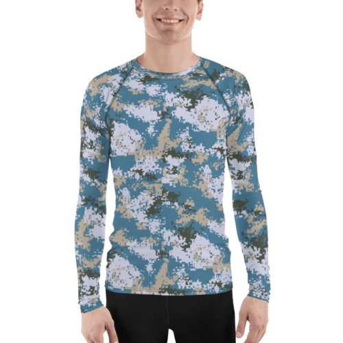 Chinese PLN M07 Ocean Camouflage Men's Rash Guard