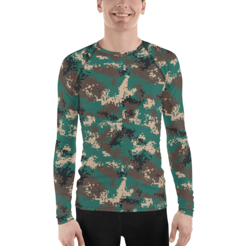Chinese PLA M07 Woodland Camouflage Men's Rash Guard