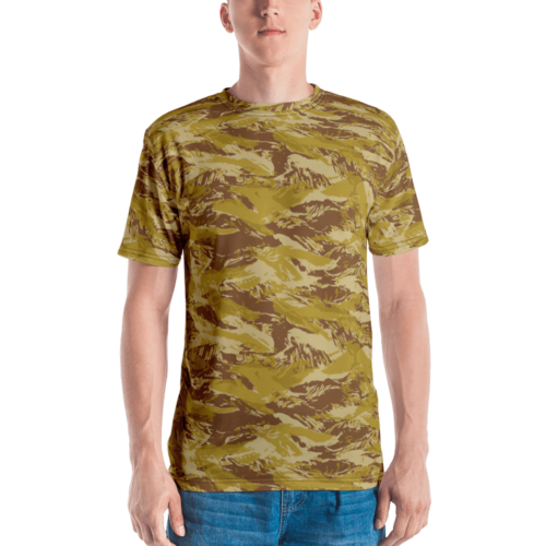 Fictional Rhodesian Desert Tiger Stripes Camouflage Men's T-shirt