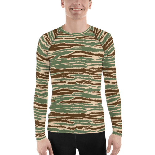 Sri Lankan LTTE Tamil Tigers Cactus Camouflage Men's Rash Guard