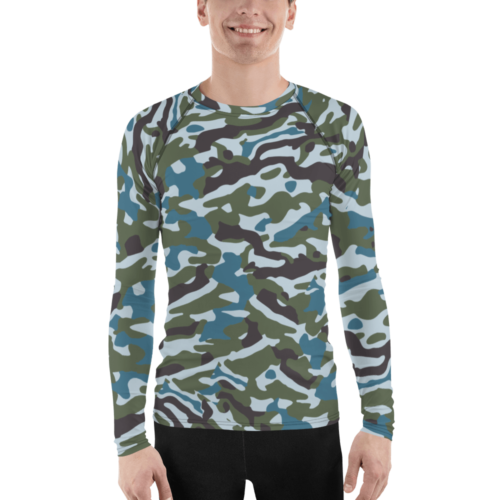 Chinese PLAN Commandos Oceanic Camouflage Men's Rash Guard