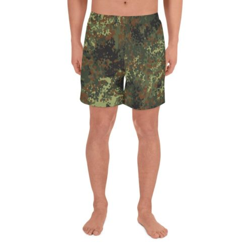 German Flecktarn Men's Athletic Long Shorts