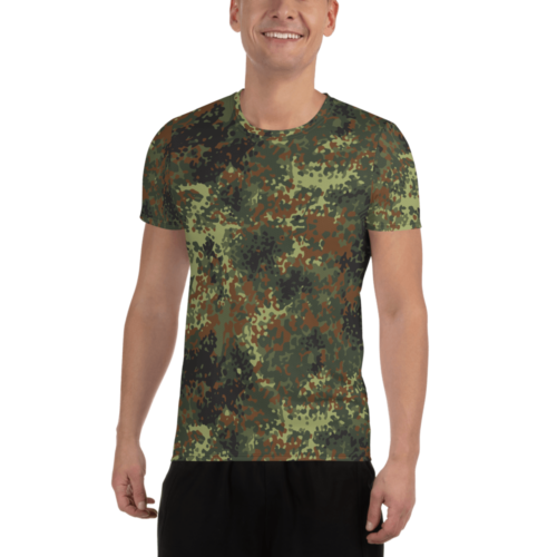 German Flecktarn Men's Athletic T-shirt