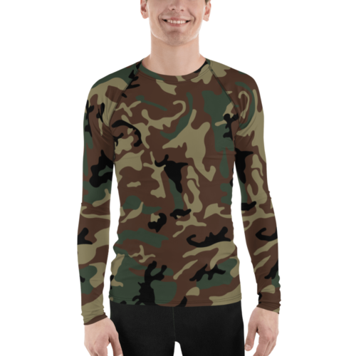 Spanish GEO special Leaf Woodland Men's Rash Guard