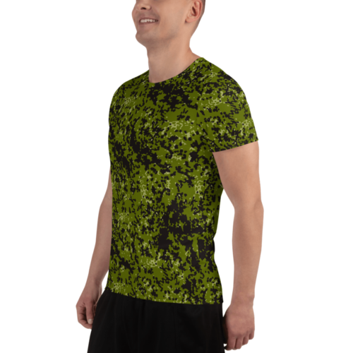 Danish M84 Camouflage Men's Athletic T-shirt
