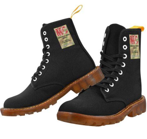 Nylon Canvas Martin Boots