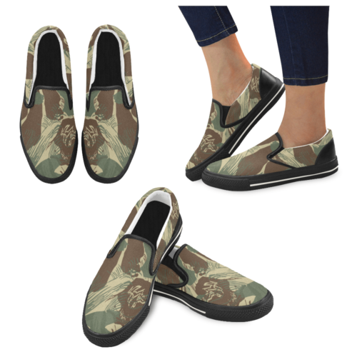 Rhodesian Brushstrokes Camouflage V2 Men's Slip-on Canvas Shoes