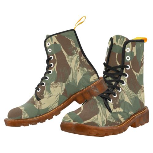 Rhodesian Brushstroke Camouflage v2 Martin Boots For Men